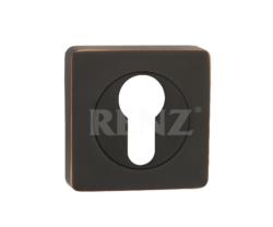 Накладка на цилиндр квадр. ЕТ 02 AВB/бронза черн. с патиной/RENZ/