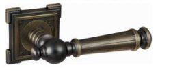 .Ручка дверная ВАЛЕНСИЯ DH 69-19 МАВ/квадрат/бронза ант. мат./RENZ/