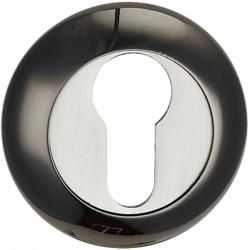 -Накладка на цилиндр ЕТ-01 ВN/PC/черный.ник.-хром/ГАРАНТ/