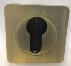 Накладка на цилиндр квадр. ЕТ 02 AB/бронза ант./RENZ/