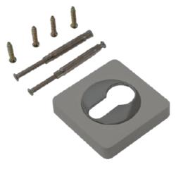 Накладка на цилиндр квадр. ЕТ 02 MBN/СР /матовый черный никель - хром/RENZ/