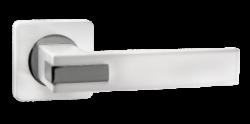 .Ручка дверная КАТАНИЯ квадр. DH 301-02 MBN/CP/мат.черный никель-хром/RENZ/