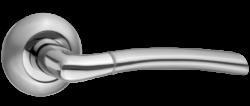 .Ручка дверная АЛЛЕГРО DH 210-08 SN/NP/мат.никель-никель/TIXX