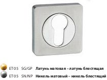 Накладка на цилиндр квадр. ЕТ 05 SG/GP/мат.лат.-латунь/TIXX/