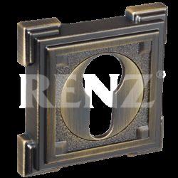 Накладка на цилиндр ЕТ 19 МАВ/квадрат/бронза ант. мат./RENZ/