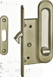 Ручки для раздв.дверей с замком SDH-ВК 501АВ/бронза/фикс./TIXX/