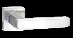 .Ручка дверная АРОНА квадр. DH 96-02 MSW/CP/мат.супер белый-хром/RENZ/