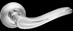 .Ручка дверная КЛЕМЕНТИНА DH 208-08 SN/NP/мат.ник.-никель/TIXX/